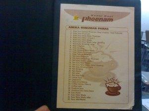menu phoenam